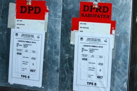 Logistik Pemilu Legislatif 2014 untuk TPS 6 Kalu Kelurahan Prailiu Kecamtan Kambera Sumba Timur