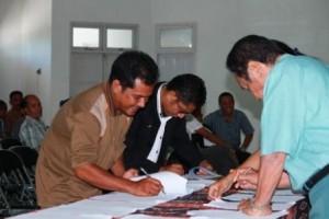 Penandatanganan Berita Acara Pleno Pileg 2014 Tingkat Kabupaten Sumba Timur