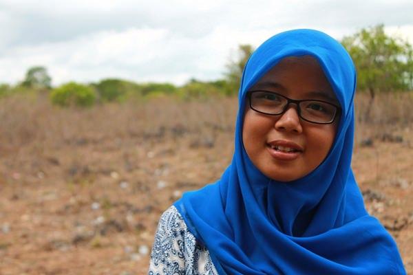 Siti Rohani Guru SM-3T di SDN Lapinu Matawai Katingg [ Foto : Heinrich Dengi ]
