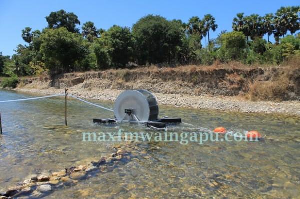 Pompa Barsha di Sungai Kadahang [Foto: Heinrich Dengi]