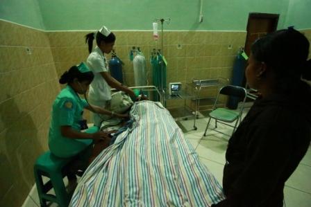 Oscar saat di Ruang ICU